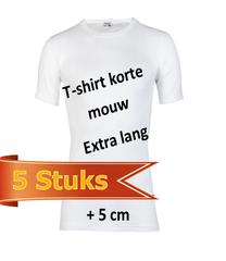 Shirts extra lang 5 stuks bundels