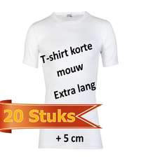 Shirts extra lang 20 stuks bundels