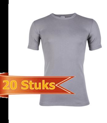 Heren beeren T-shirt korte mouw grijs ( 20 stuks )
