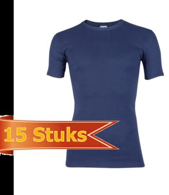 Heren beeren T-shirt korte mouw marine ( 15 stuks )