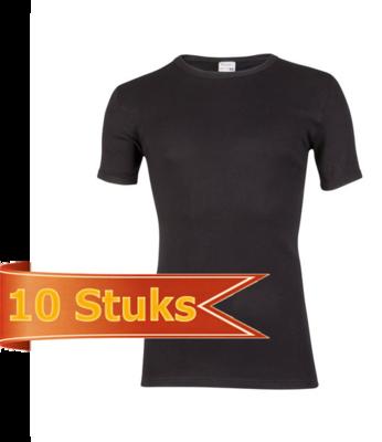Heren beeren T-shirt korte mouw zwart ( 10 stuks )