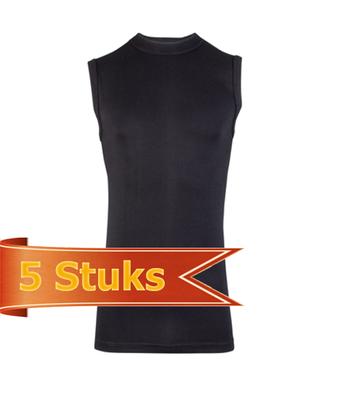 Heren Beeren mouwloze shirt Comfort Feeling zwart (5 stuks)