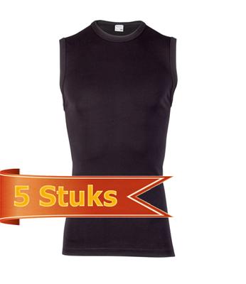 Heren Beeren mouwloos shirt Beeren Young zwart (5 stuks)