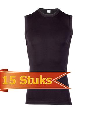 Heren Beeren mouwloos shirt Beeren Young zwart (15 stuks)