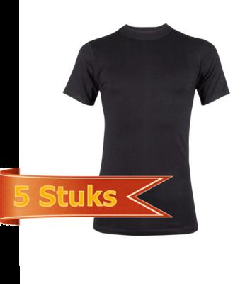 Heren Beeren  T-shirt korte mouw Comfort Feeling zwart (5 stuks)