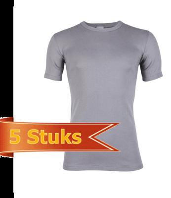 Heren Beeren T-shirt korte mouw grijs (5 stuks)