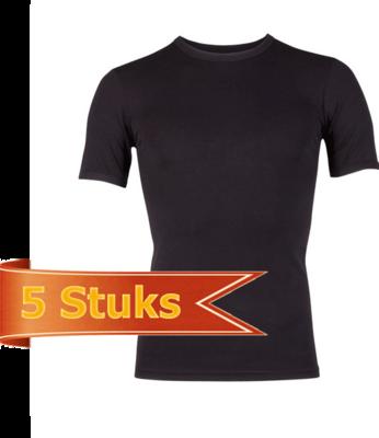 Heren Beeren  T-shirt korte mouw Beeren Young zwart (5 stuks)