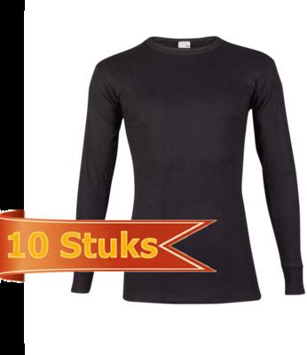 Beeren Heren T-Shirt Lange Mouw zwart (10 stuks)