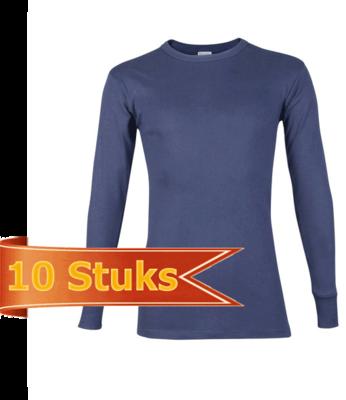 Beeren Heren T-Shirt Lange Mouw marine (10 stuks)