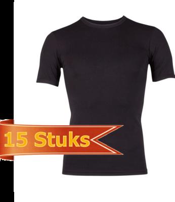 Heren Beeren  T-shirt korte mouw Beeren Young zwart (15 stuks)