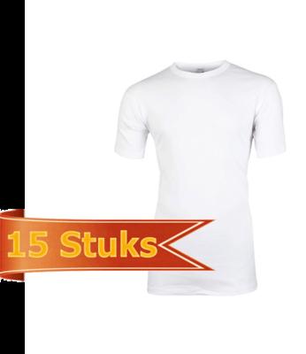 Heren Beeren hemd korte mouw wit M3400 (15 stuks)