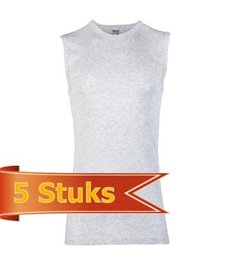 Heren Beeren mouwloos shirt grijs melee (5 stuks)