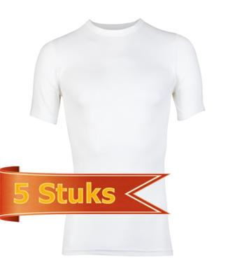 Heren Beeren  T-shirt korte mouw Beeren Young wit (5 stuks)