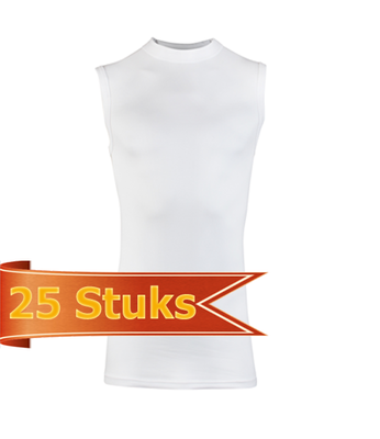 Heren Beeren mouwloze shirt Comfort Feeling wit (25 stuks)