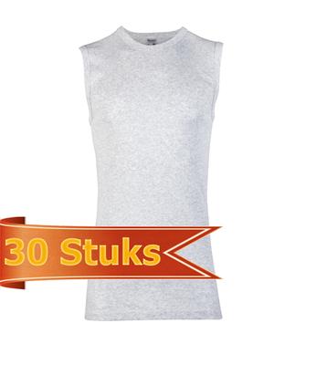 Heren Beeren mouwloos shirt grijs melee (30 stuks)