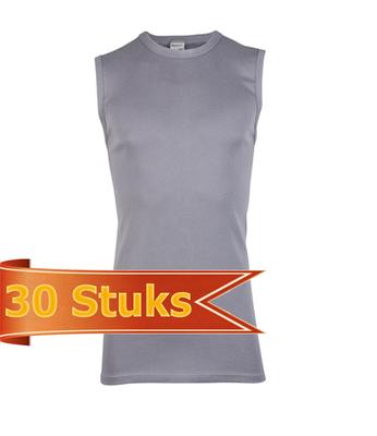 Heren Beeren mouwloos shirt grijs (30 stuks)