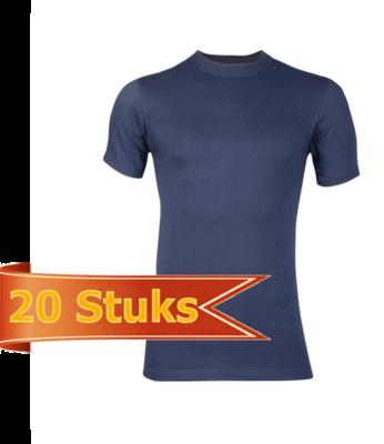 Heren Beeren  T-shirt korte mouw Comfort Feeling marine (20 stuks)