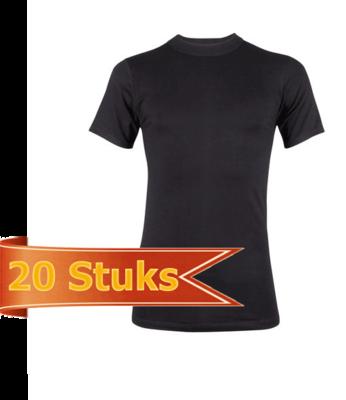 Heren Beeren  T-shirt korte mouw Comfort Feeling zwart (20 stuks)