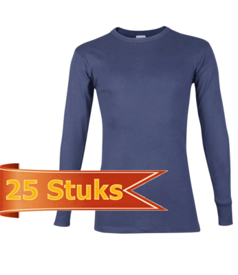 Beeren Heren T-Shirt Lange Mouw marine (25 stuks)