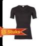 Heren beeren T-shirt korte mouw V-hals zwart ( 15 stuks )