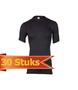 Heren beeren ondergoed Hemd Thermo korte mouw zwart (30 stuks)